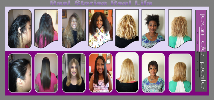 before after natural keratin treatment